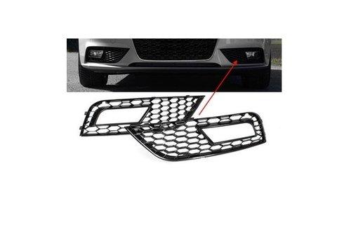 OEM LINE RS4 Look Nebelscheinwerfer Blenden Black Edition für Audi A4 B8.5