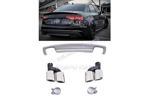 OEM LINE S4 Look Diffuser + Uitlaat sierstukken voor Audi A4 B8.5 (S line)