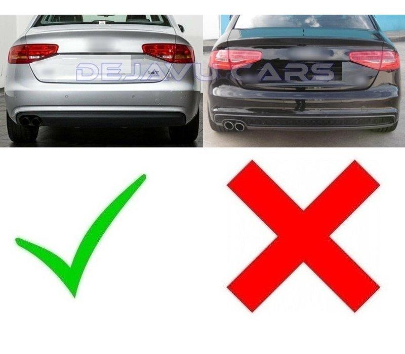S line Look Diffuser voor Audi A4 B8.5