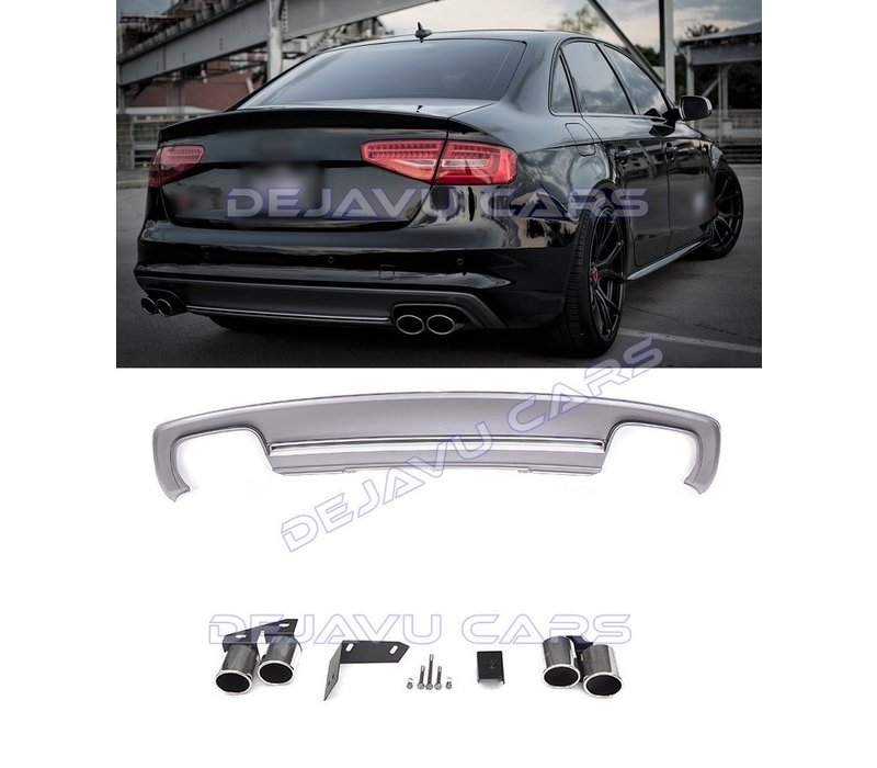 S4 Look Diffuser + Exhaust tail pipes for Audi A4 B8.5