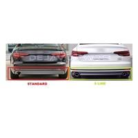 S4 Look Diffuser + Uitlaat sierstukken voor Audi A4 B9