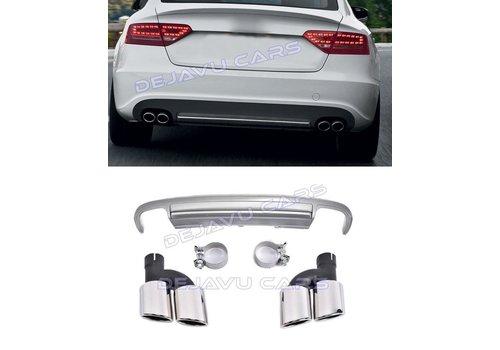 OEM LINE S5 Look Diffuser + Uitlaat sierstukken voor Audi A5 8T Sportback