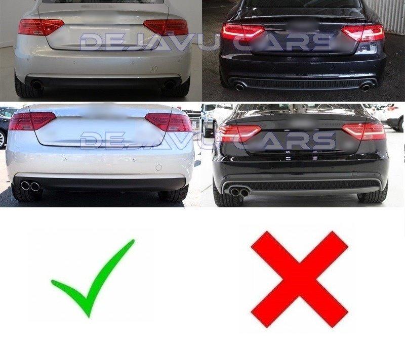 S5 Look Diffuser voor Audi A5 8T Sportback