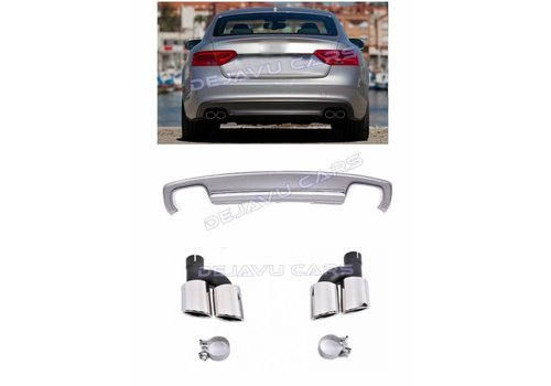 OEM LINE S5 Look Diffuser + Exhaust tail pipes for Audi A5 8T Sportback