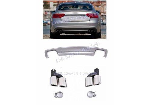 OEM LINE S5 Look Diffusor + Auspuffblenden für Audi A5 8T Sportback