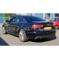 S line Facelift Look Diffuser + Exhaust tail pipes for Audi A6 C7 4G