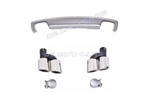 OEM LINE S6 Look Diffuser + Exhaust tail pipes for Audi A6 C7 4G