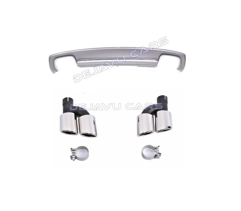 S6 Look Diffuser + Exhaust tail pipes for Audi A6 C7 4G