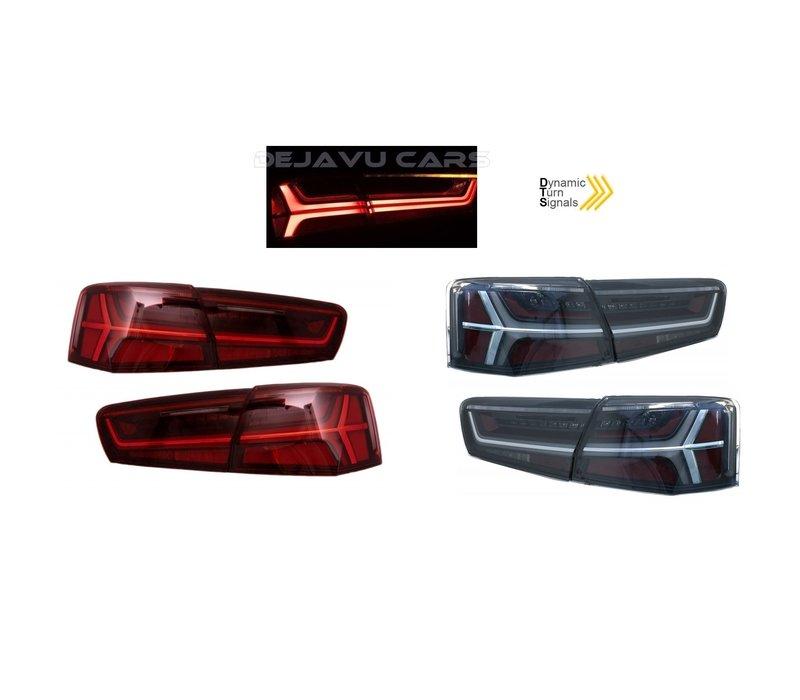 Facelift Look LED Achterlichten voor Audi A6 C7 4G (Sedan)