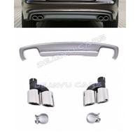 S7 Look Diffusor + Auspuffblenden für Audi A7 4G