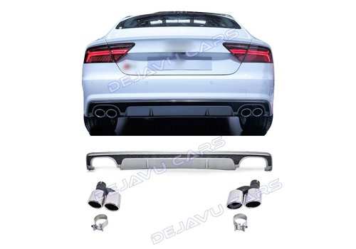 OEM LINE S7 Look Diffuser + Exhaust tail pipes for Audi A7 4G
