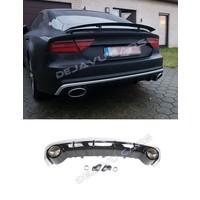 RS7 Look Diffuser + Uitlaat sierstukken voor Audi A7 4G