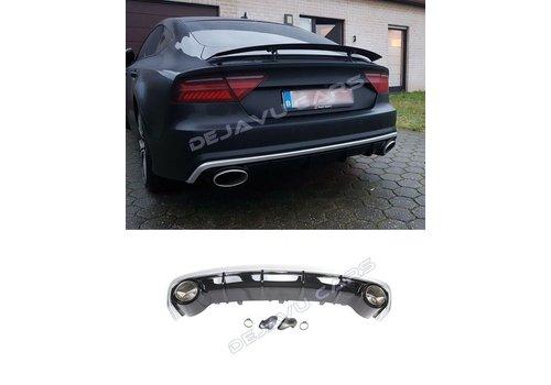 OEM LINE RS7 Look Diffusor + Auspuffblenden für Audi A7 4G