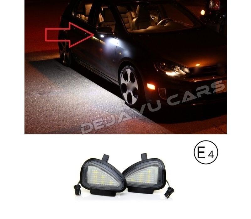 LED Lighting under outside mirror for Volkswagen Golf 6