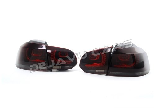 DEPO R20 / GTI Look LED Tail Lights Red/Smoke for Volkswagen Golf 6
