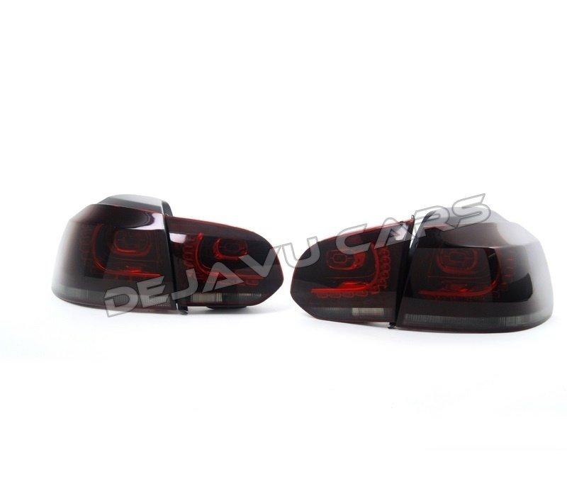 R20 / GTI Look LED Achterlichten Rood/Smoke voor Volkswagen Golf 6