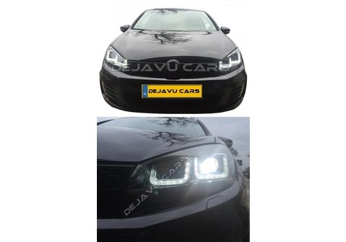 OEM LINE Xenon Look U-LED Headlights for Volkswagen Golf 6