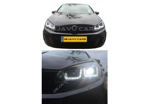 OEM LINE Xenon Look U-LED Koplampen voor Volkswagen Golf 6