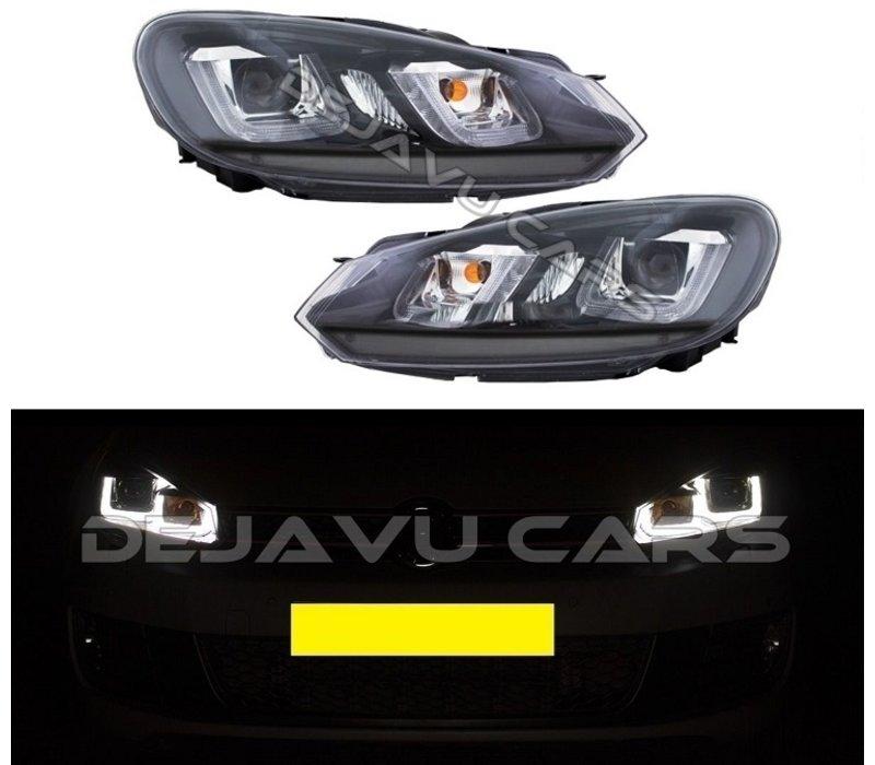 Xenon Look U Led Headlights For Volkswagen Golf 6 Www Dejavucars Eu