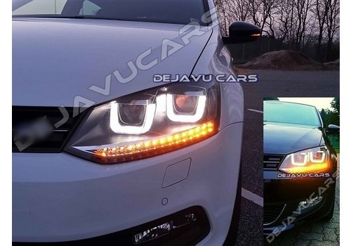 OEM LINE® Xenon Look U LED Headlights for Volkswagen Polo 6R / 6C