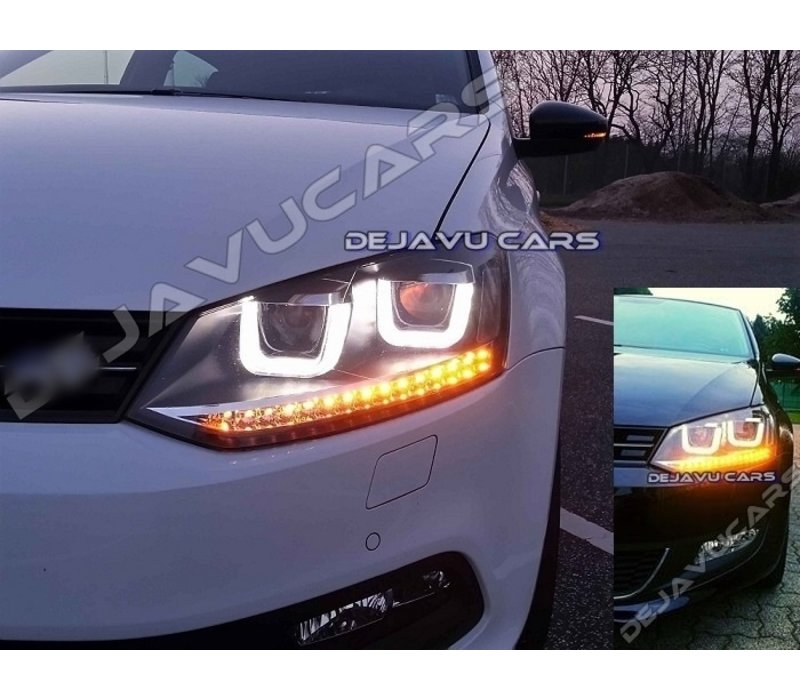 Xenon Look U LED Headlights for Volkswagen Polo 6R / 6C