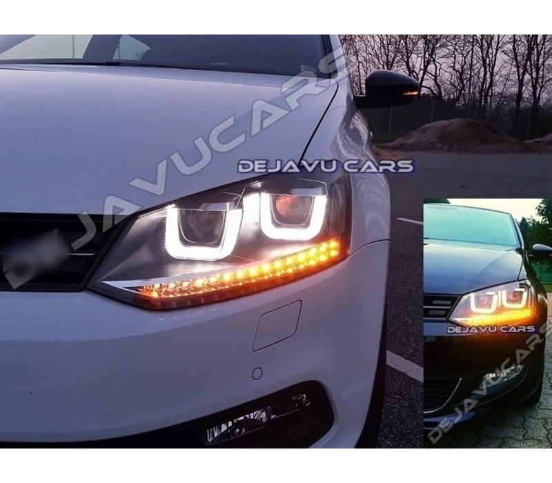 Xenon Look U LED Koplampen voor Volkswagen Polo 6R / 6C