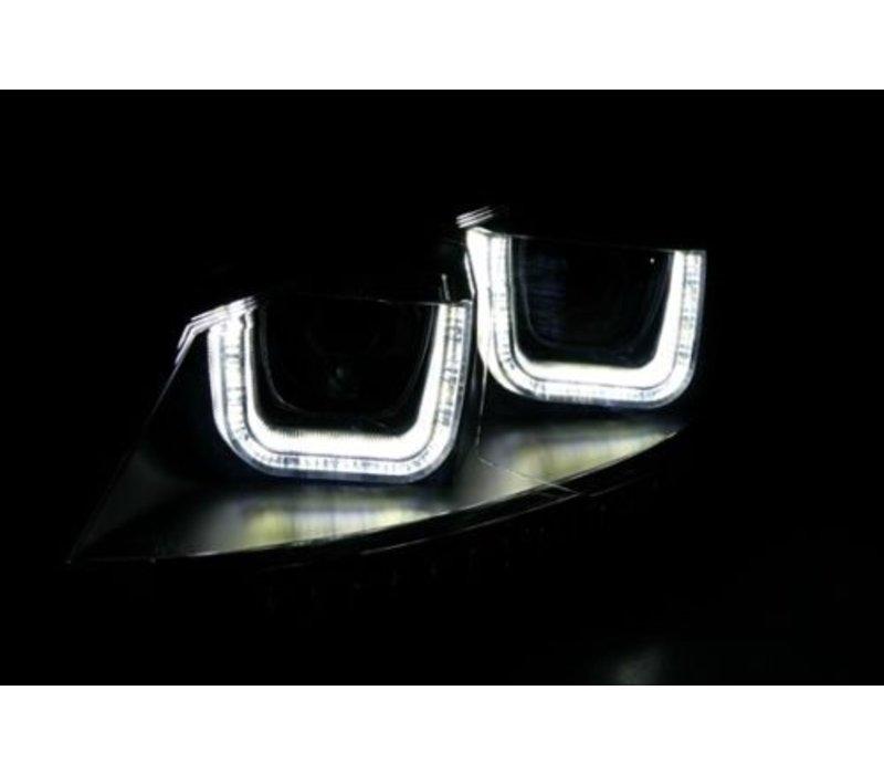Xenon Look U LED Scheinwerfer für Volkswagen Polo 6R / 6C - Chrome