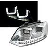 OEM LINE Xenon Look U LED Koplampen voor Volkswagen Polo 6R / 6C - Chrome