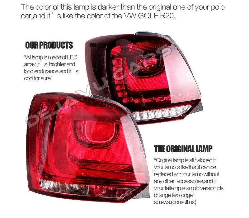 Full LED Tail Lights for Volkswagen Polo 6R / 6C