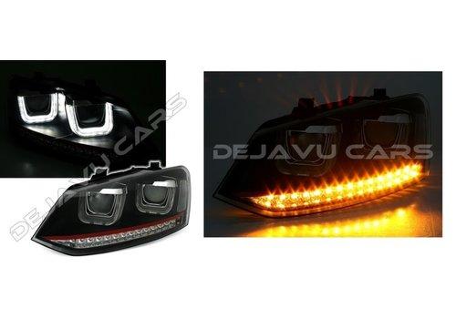 OEM LINE Xenon Look U LED Koplampen voor Volkswagen Polo 6R / 6C - GTI Look