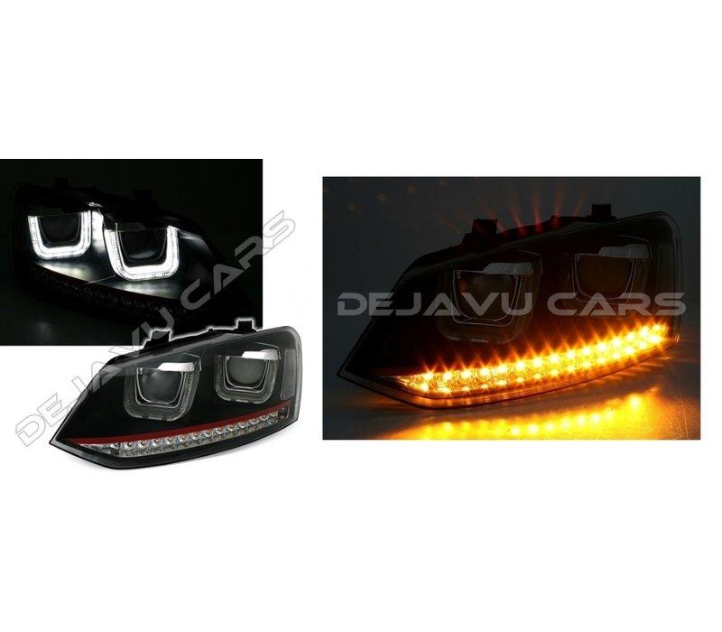 Xenon Look U LED Koplampen voor Volkswagen Polo 6R / 6C - GTI Look