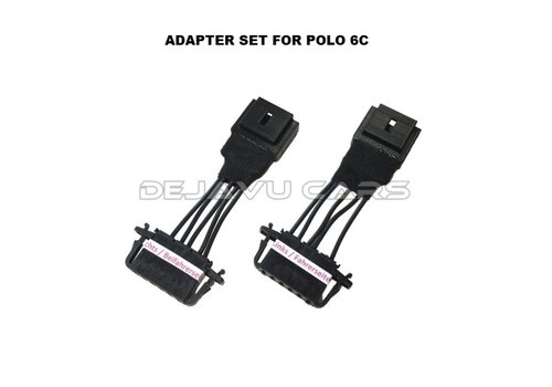 OEM LINE® Tail lights adapter cable set for Volkswagen Polo 6R / 6C