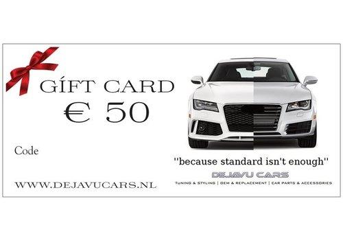 OEM LINE DEJAVU CARS CADEAUKAART € 50