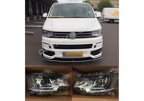 DEPO Bi Xenon Look LED Headlights for Volkswagen Transporter T5
