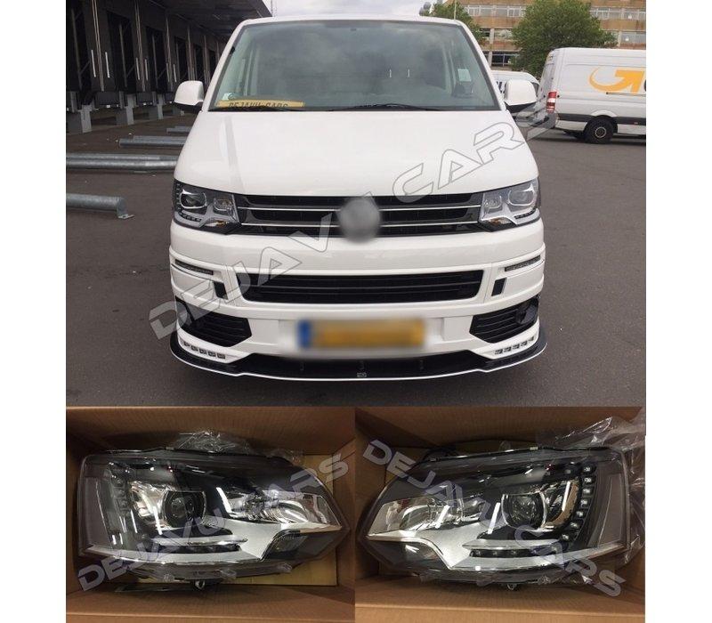 Bi Xenon Look LED Headlights for Volkswagen Transporter T5