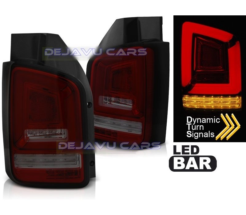 Dynamic LED BAR Tail Lights for Volkswagen Transporter T5