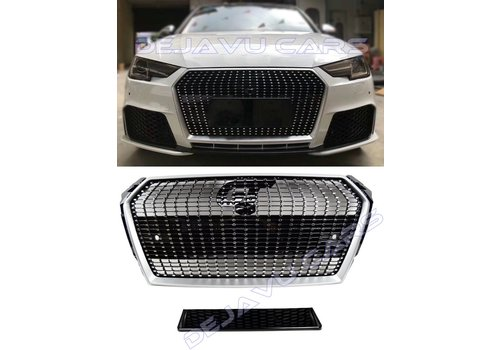 OEM LINE Diamond Look Front Grill for Audi A4 B9