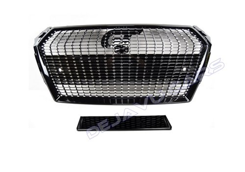 OEM LINE RS4 Diamond Look Front Grill for Audi A4 B9