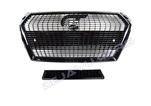 OEM LINE Black Diamond Look Front Grill for Audi A4 B9