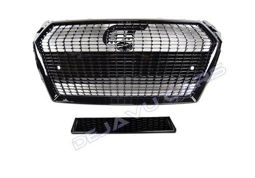 OEM LINE Black Diamond Look Front Grill voor Audi A4 B9