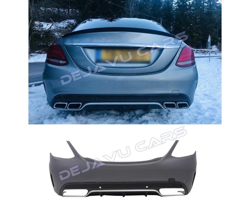 C63 AMG Look hintere Stoßstange für  Mercedes Benz C-Klasse W205