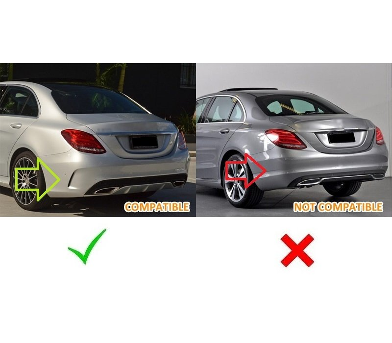 C63 AMG Look Diffuser for Mercedes Benz C-Class W205