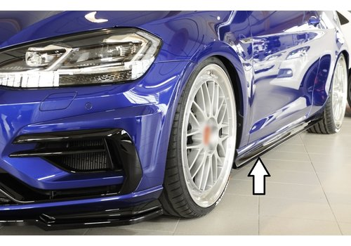 Rieger Side skirts Diffuser for Volkswagen Golf 7 Facelift R / R line