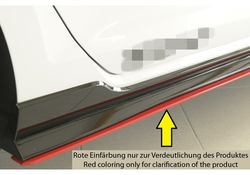 Rieger Side skirts Diffuser voor Volkswagen Golf 7 Facelift GTI - TCR