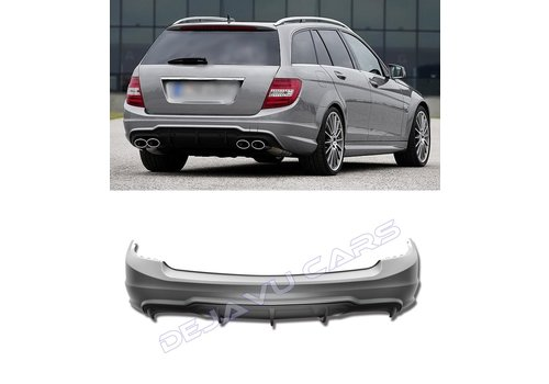 OEM LINE C63 AMG Look Rear bumper for Mercedes Benz C-Class W204 Estate