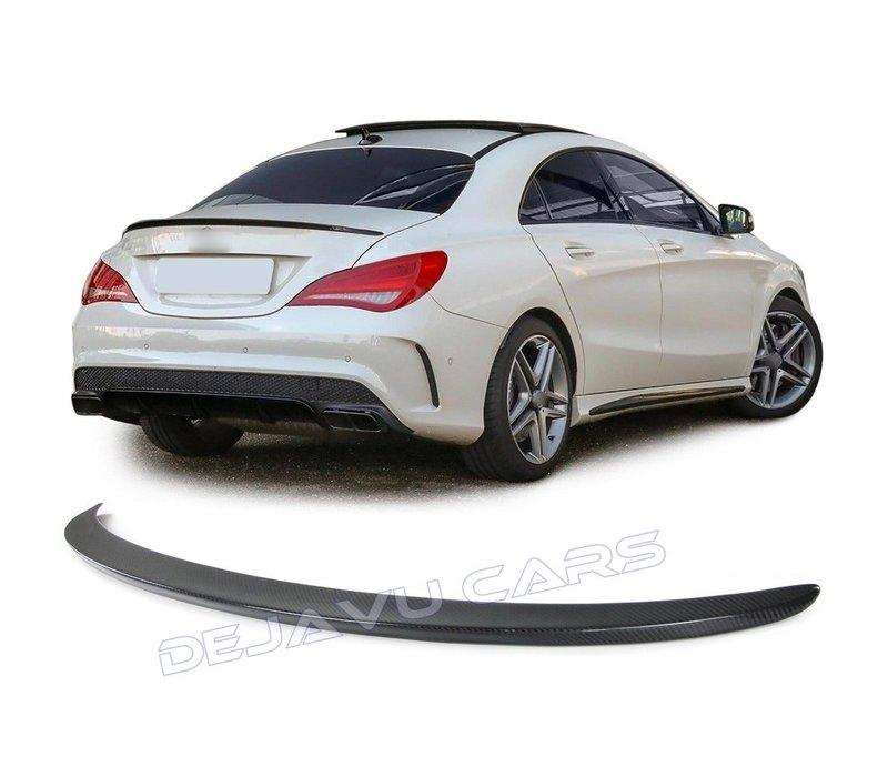 Carbon AMG Look Achterklep spoiler lip voor Mercedes Benz CLA-Klasse W117 / C117