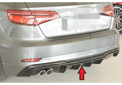 Rieger S3 Look V2 Diffuser voor Audi A3 8V S line & S3