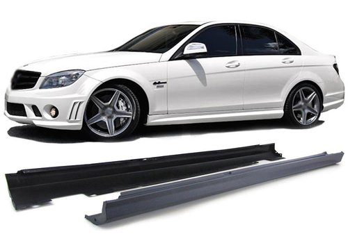 OEM LINE AMG  Look Side skirts for Mercedes Benz C-Class W204