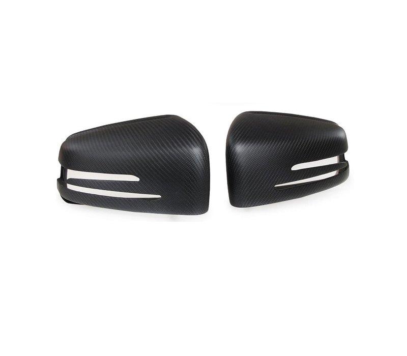 Matt Carbon Spiegelkappen für Mercedes Benz W176 W204 W246