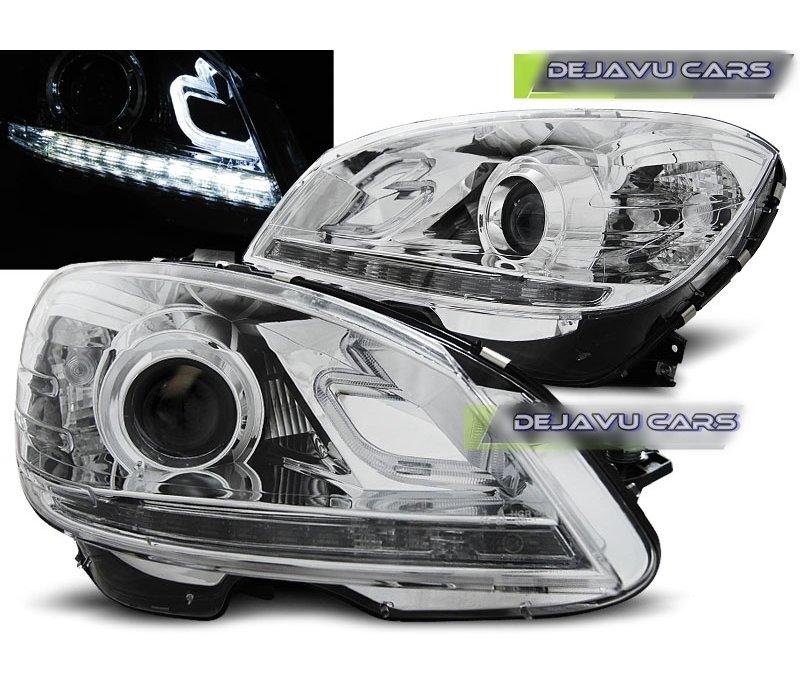 LED Bi Xenon Look Scheinwerfer für Mercedes Benz C-Klasse W204